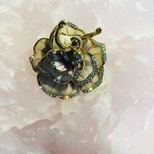 Ballerina Dancer Brooch Pin Enamel Crystal New